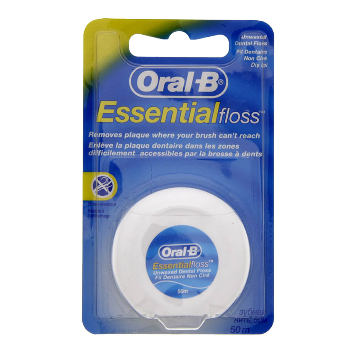 Oral-B Essential dental floss waxed, unflavoured