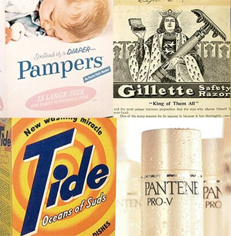 Vintage P&G product logos