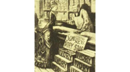 Drawing of an Ivory store counter
