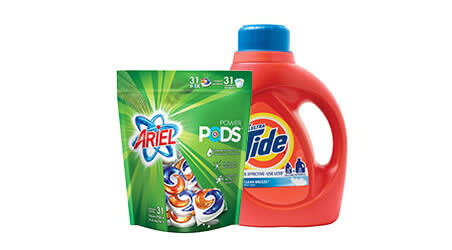 Ariel and Tide product packages