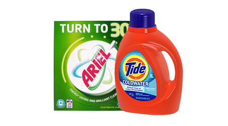 Arial and Tide product packages