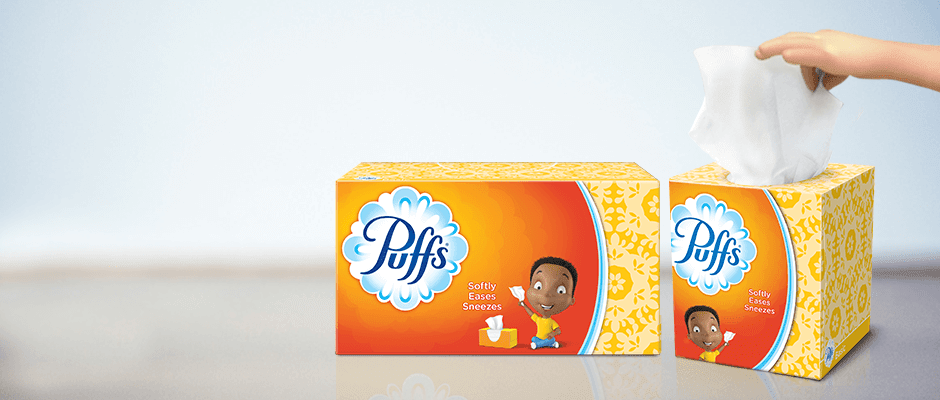 A face in need deserves Puffs indeed.