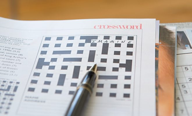 Crossword puzzle for a cold care package