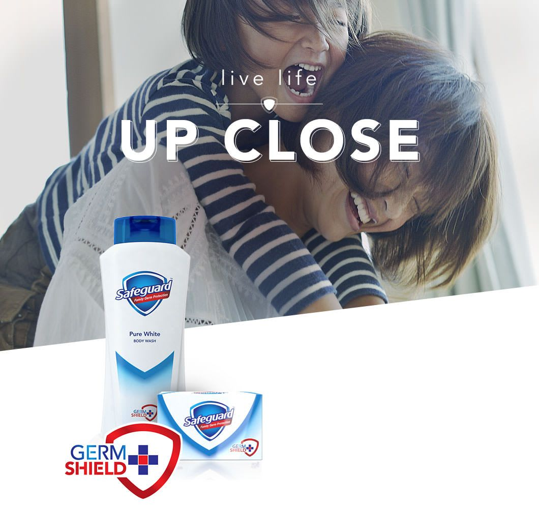 Don't be afraid to be close. Trust Safeguard Germshield+ to help you stay safe.
