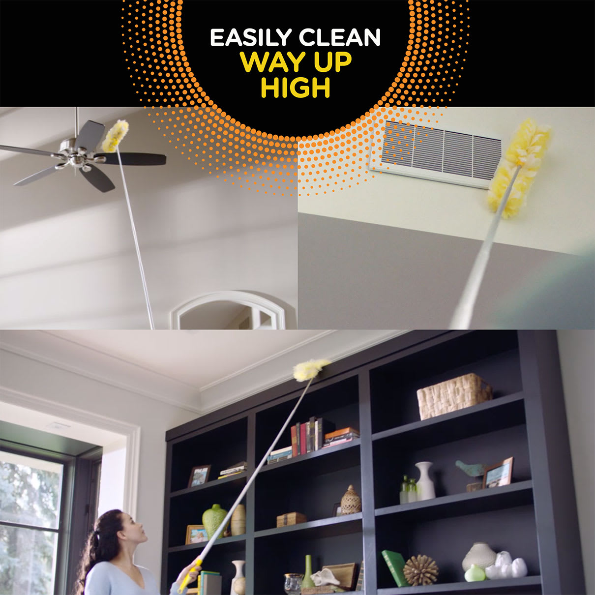 Swiffer Duster Easily Clean Way Up High