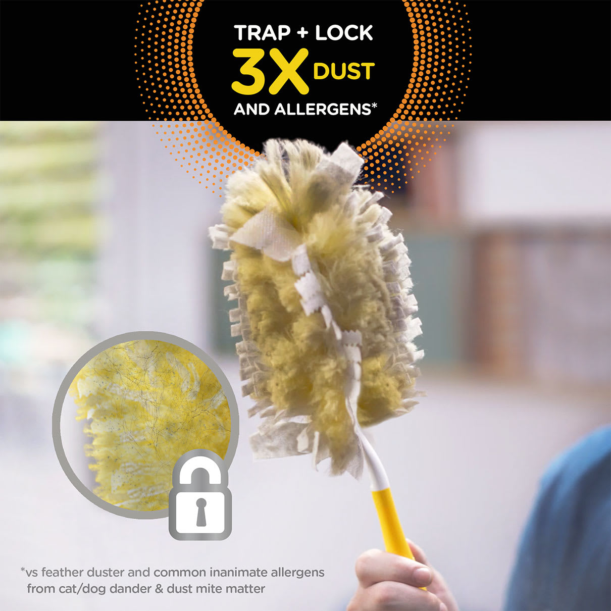 Swiffer Duster Traps and Locks 3 Times More Dust