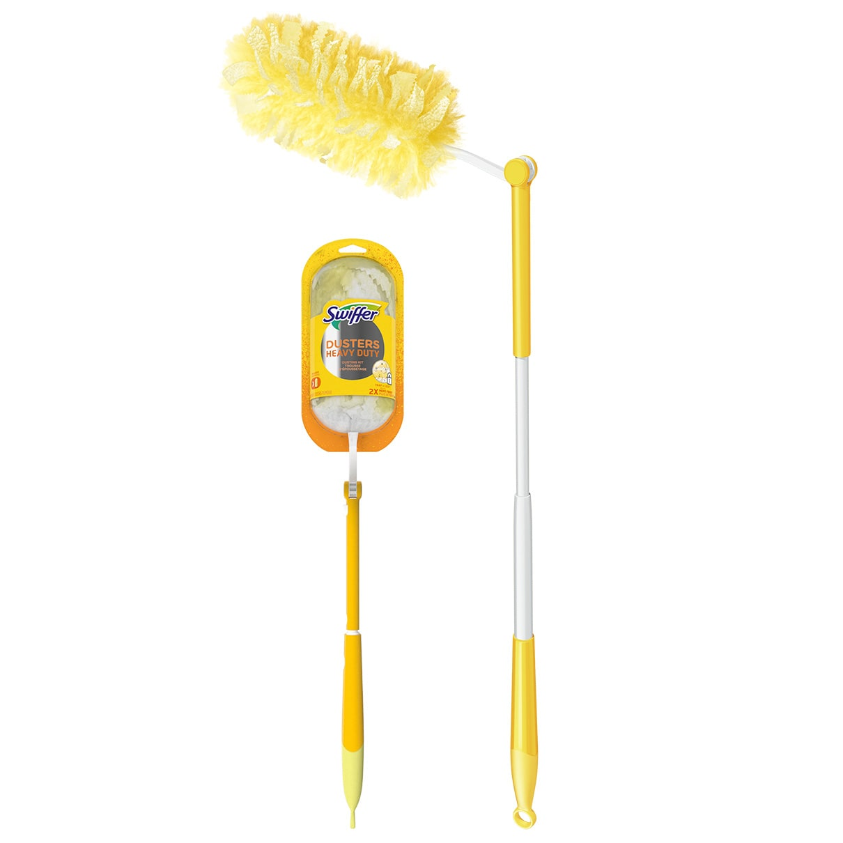 Swiffer Duster Heavy Duty Starter Kit Extended Handle OHB