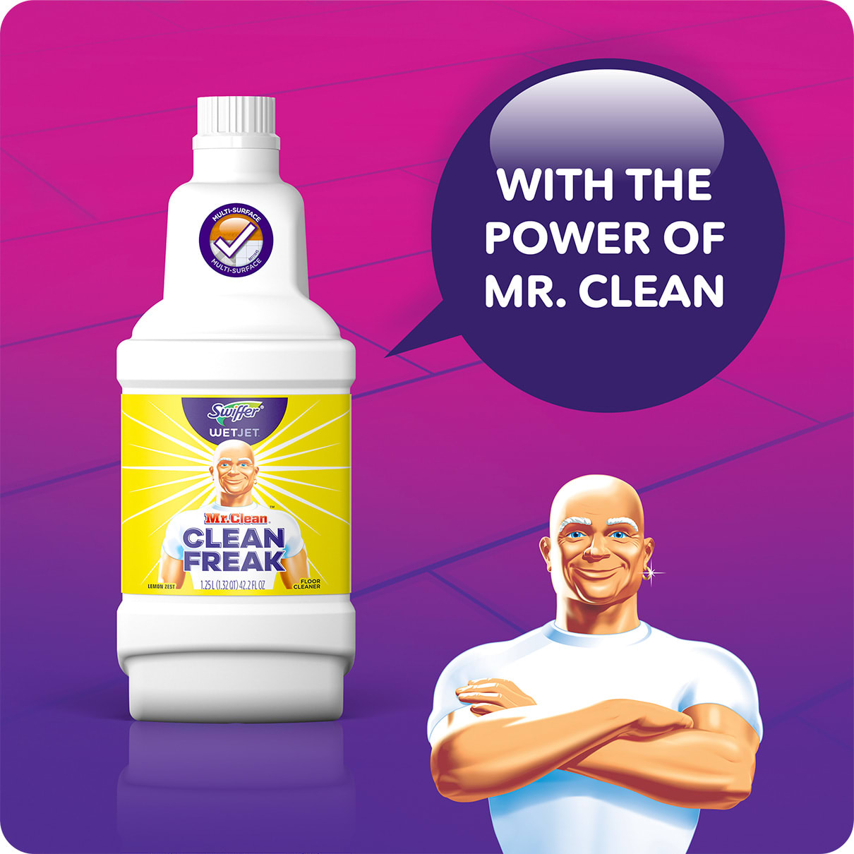 Swiffer WetJet Solution With the Power of MrClean
