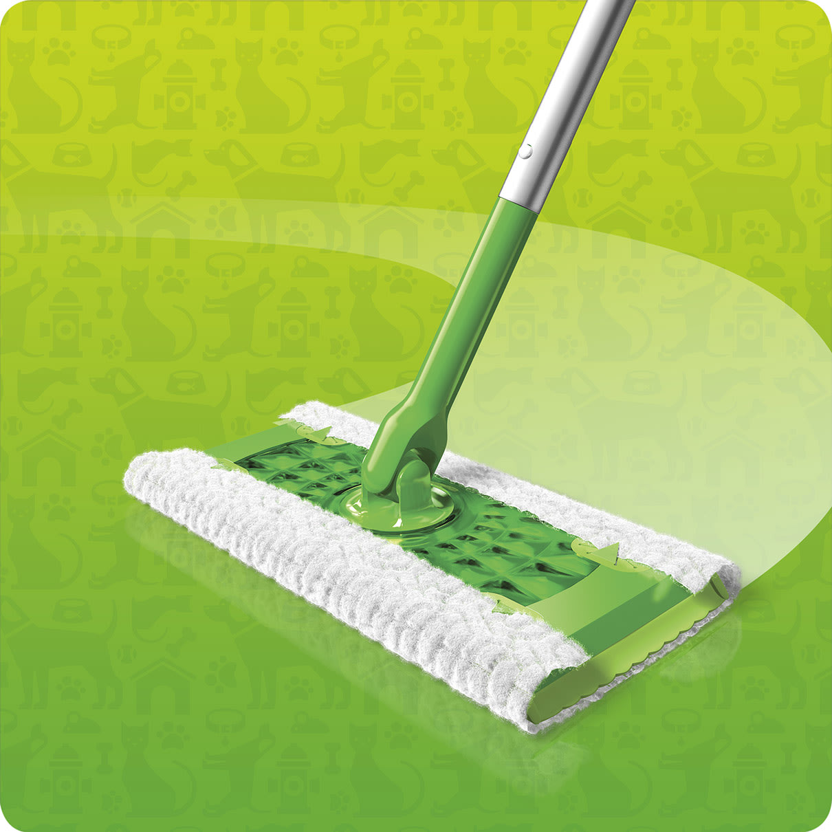 Swiffer Sweeper Dry Pet Refill in Action