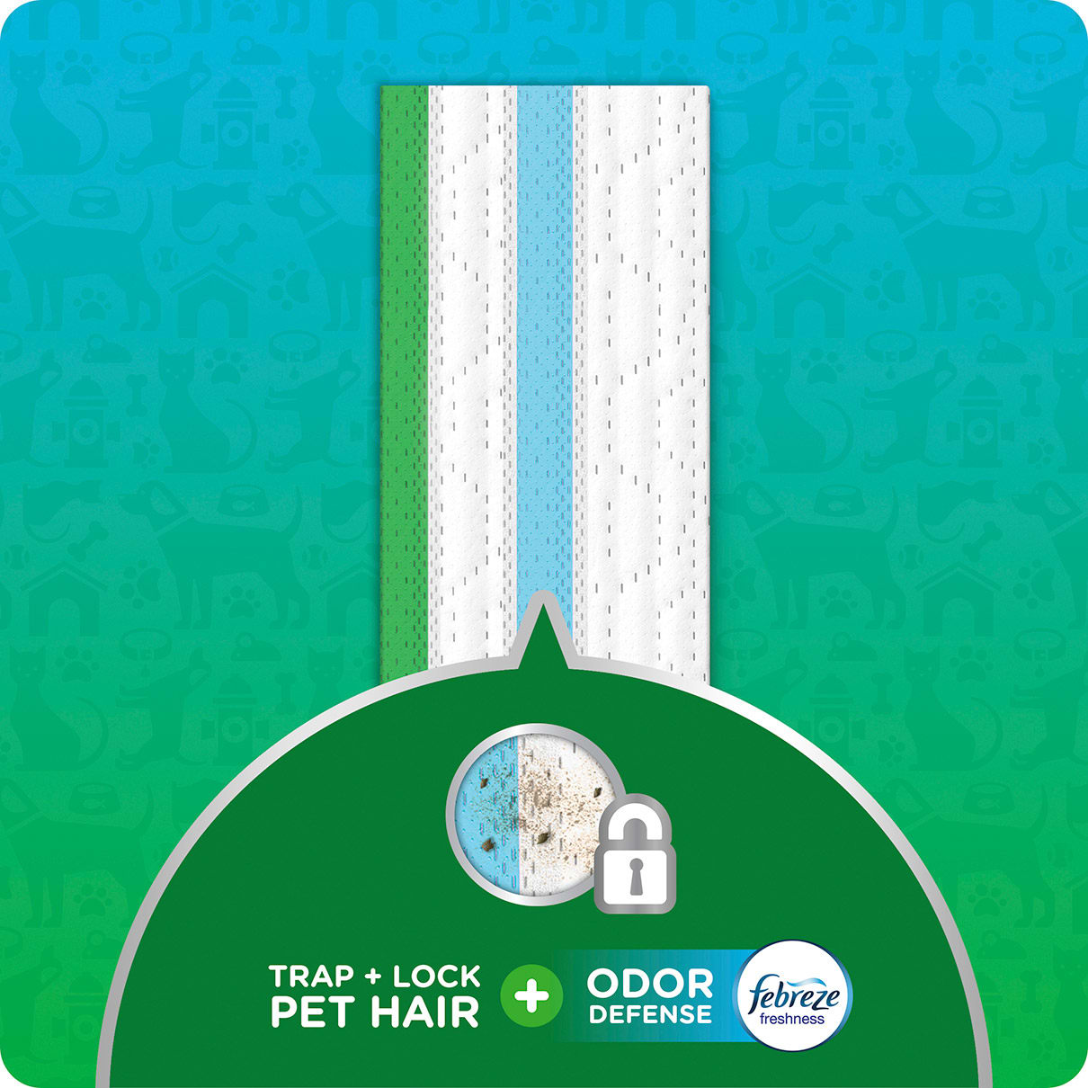 Swiffer Sweeper Trap+Lock Pet Messes