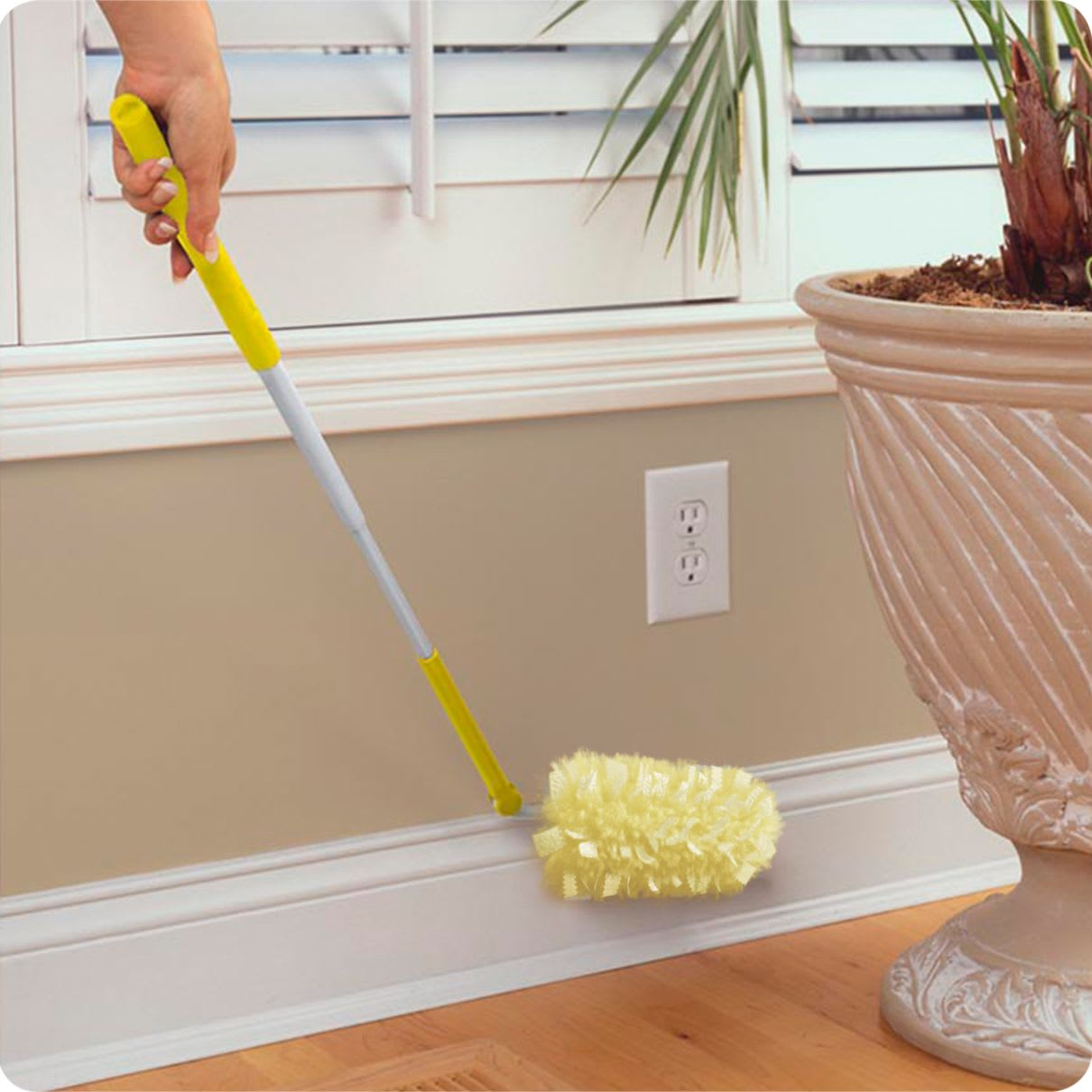 Swiffer Duster Heavy Duty Extender Starter Kit In Use
