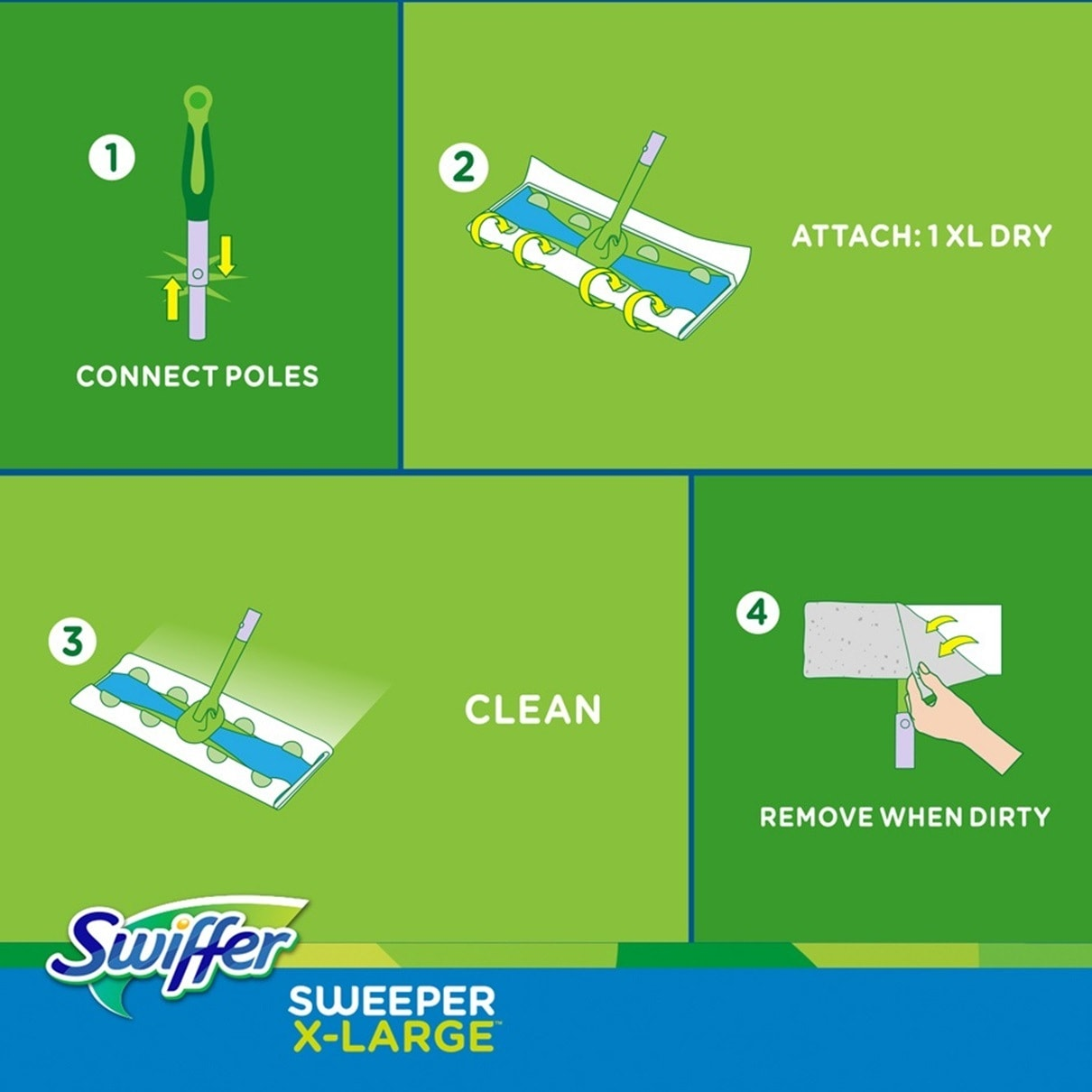 Swiffer Sweeper X large How To Clean