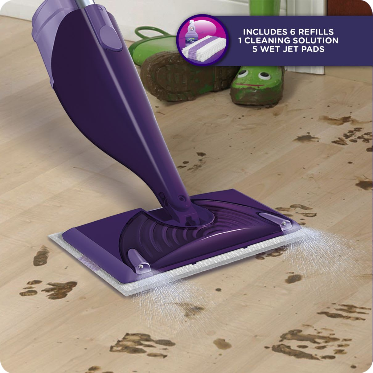 Swiffer WetJet Starter Kit Includes