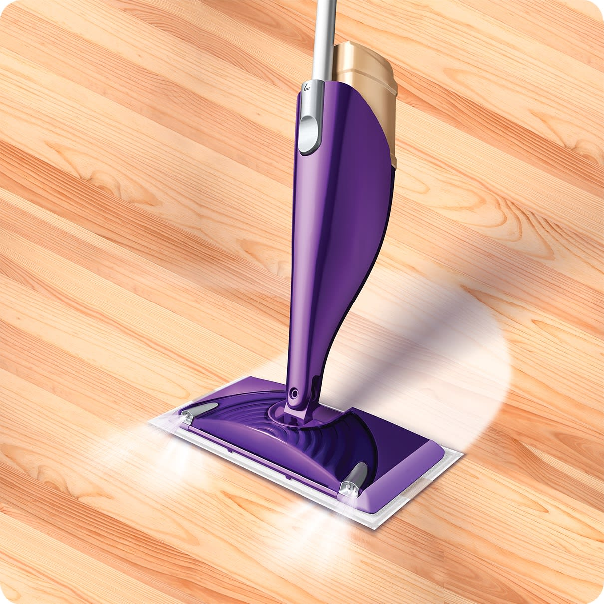 Swiffer WetJet Wood Pad Refill Device In Action