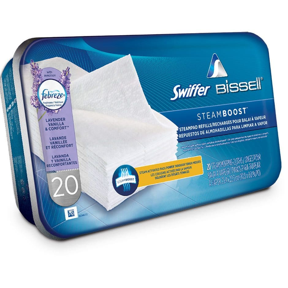 Swiffer® Steamboost™ powered by BISSELL® Steam Pad Refills - Febreze® Lavender Vanilla & Comfort™ Scent