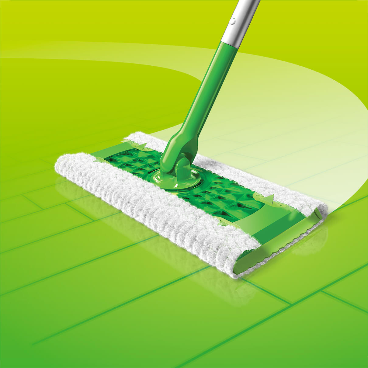 Swiffer Sweeper Dry Refill Device In Action
