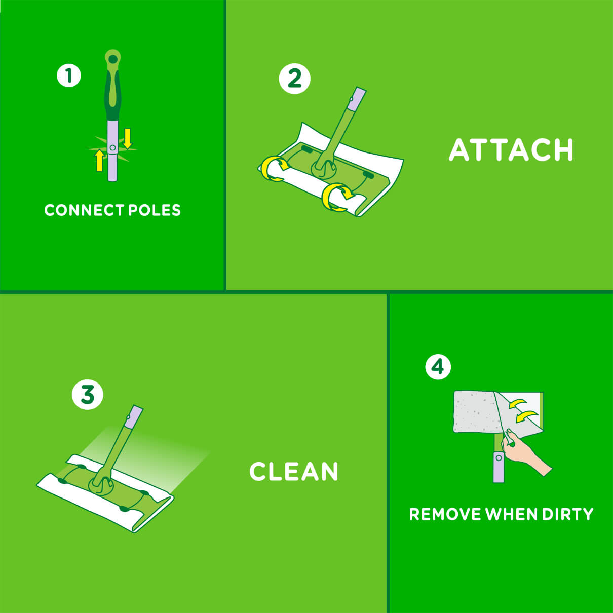 Swiffer Sweeper Dry Refill Instructions