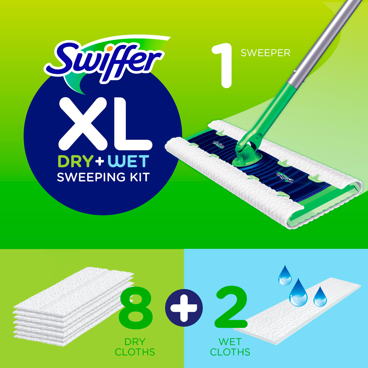 Swiffer Sweeper XL Dry+Wet Sweeping Kit