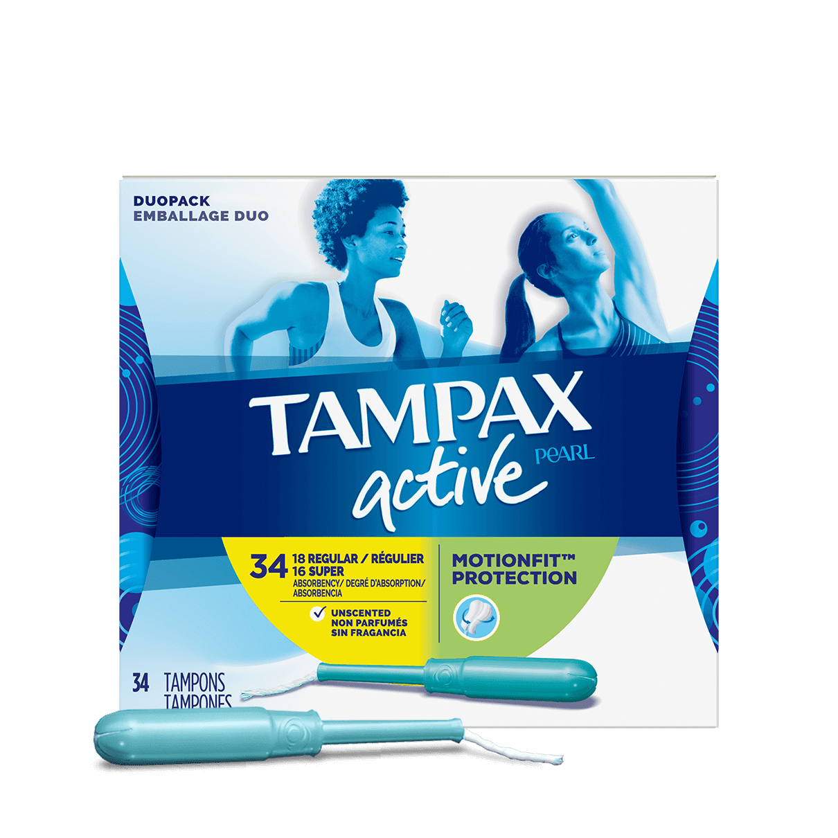 Tampax Pearl Active Duo-Pack Regular Super