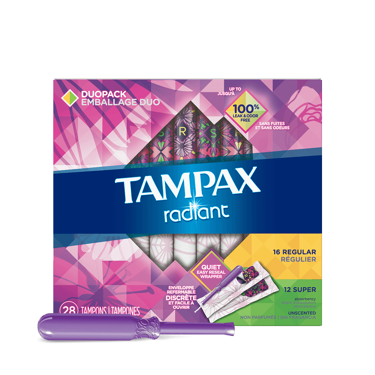 Tampax Radiant Duopack