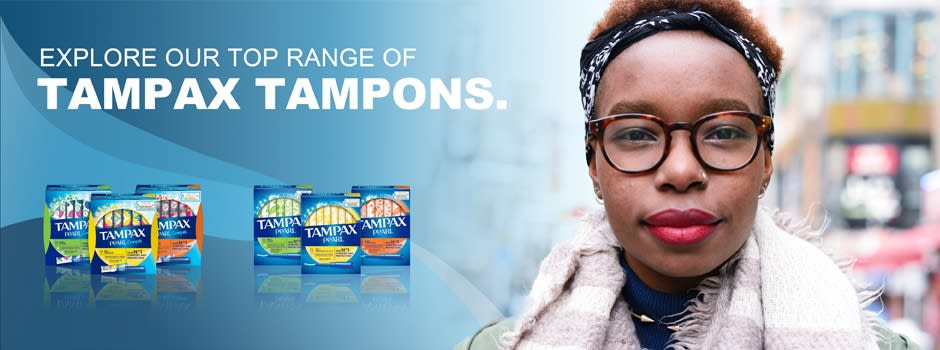 Explore our top range of TAMPAX tampones