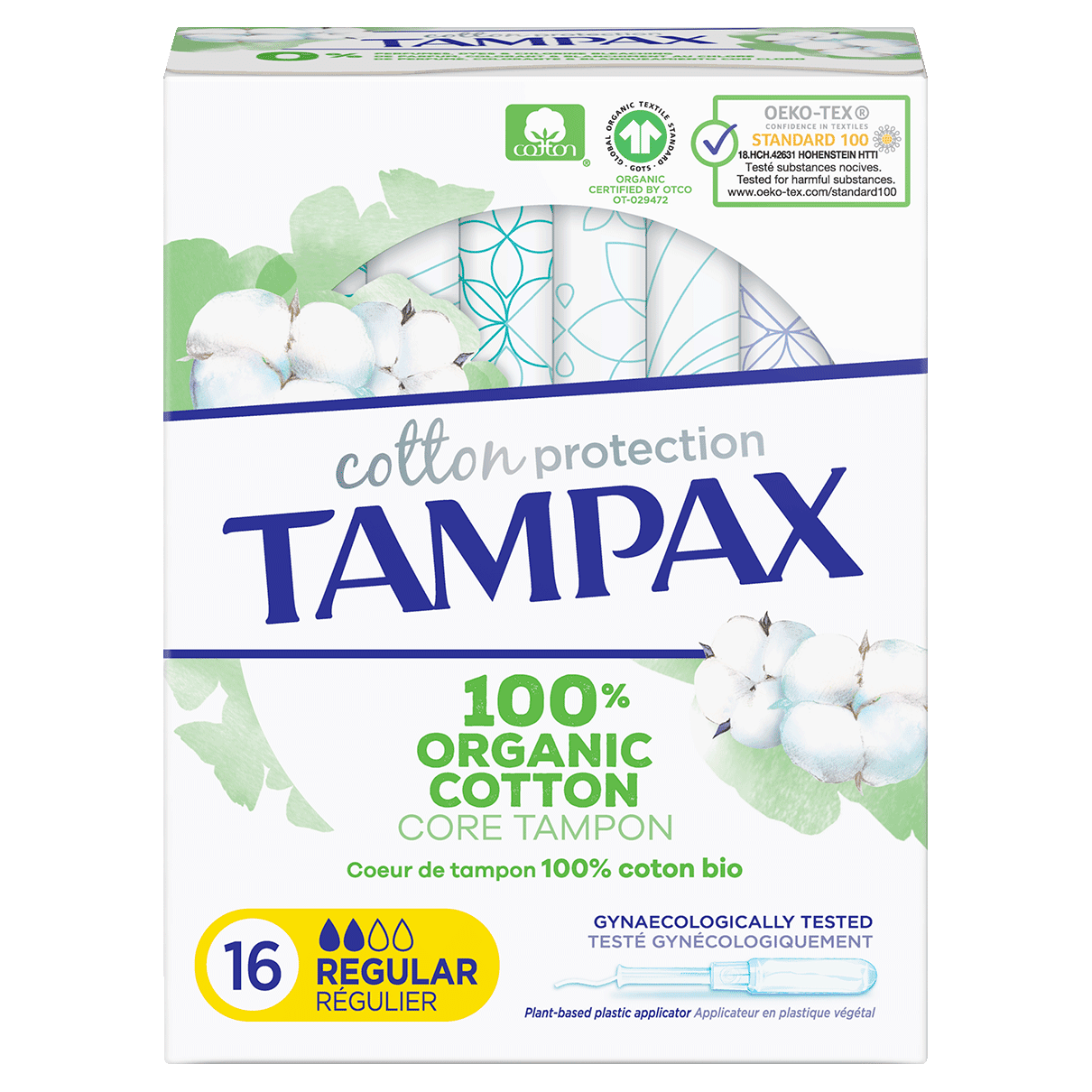 Tampax Tampons Cotton Protection Regular