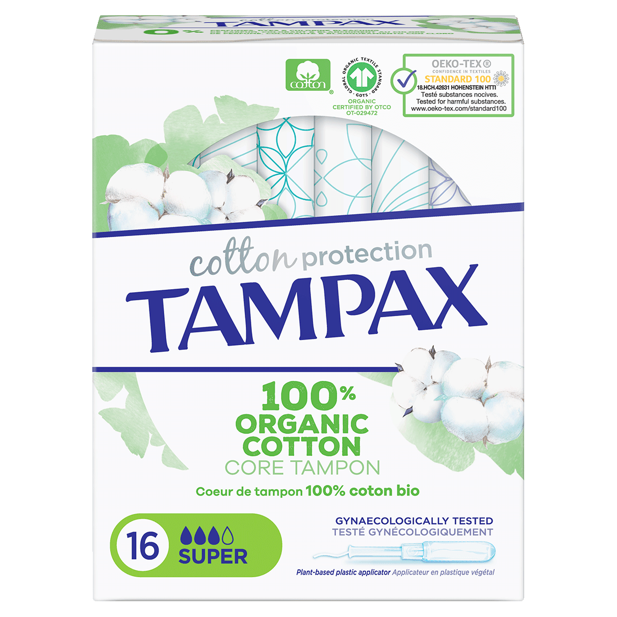 Tampax Tampons Cotton Protection Super