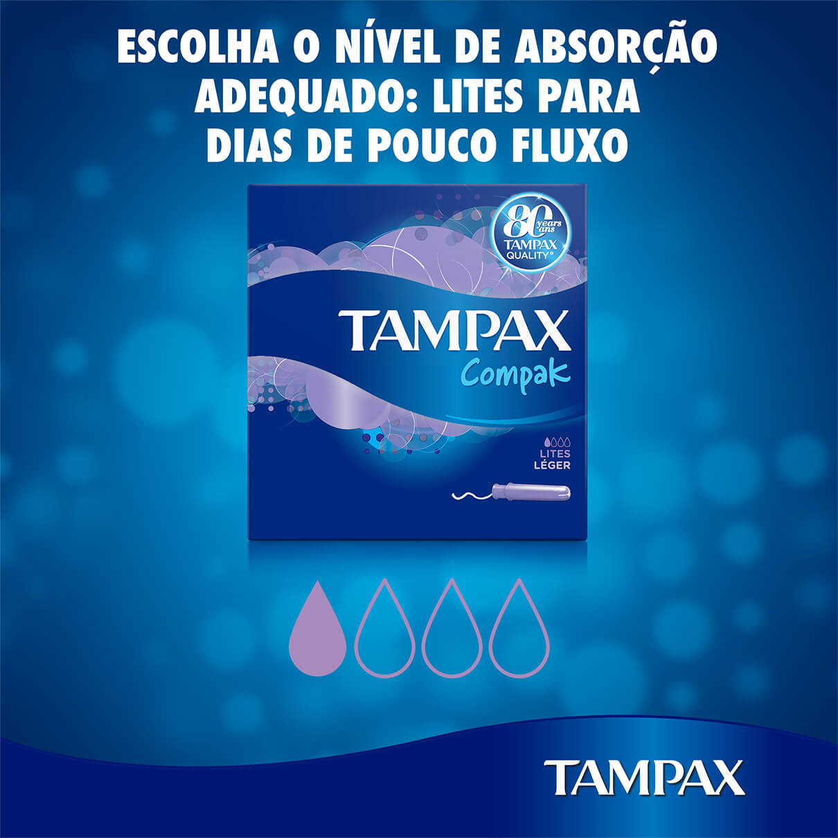 TAMPAX Compak Lites tampoes menstruacao