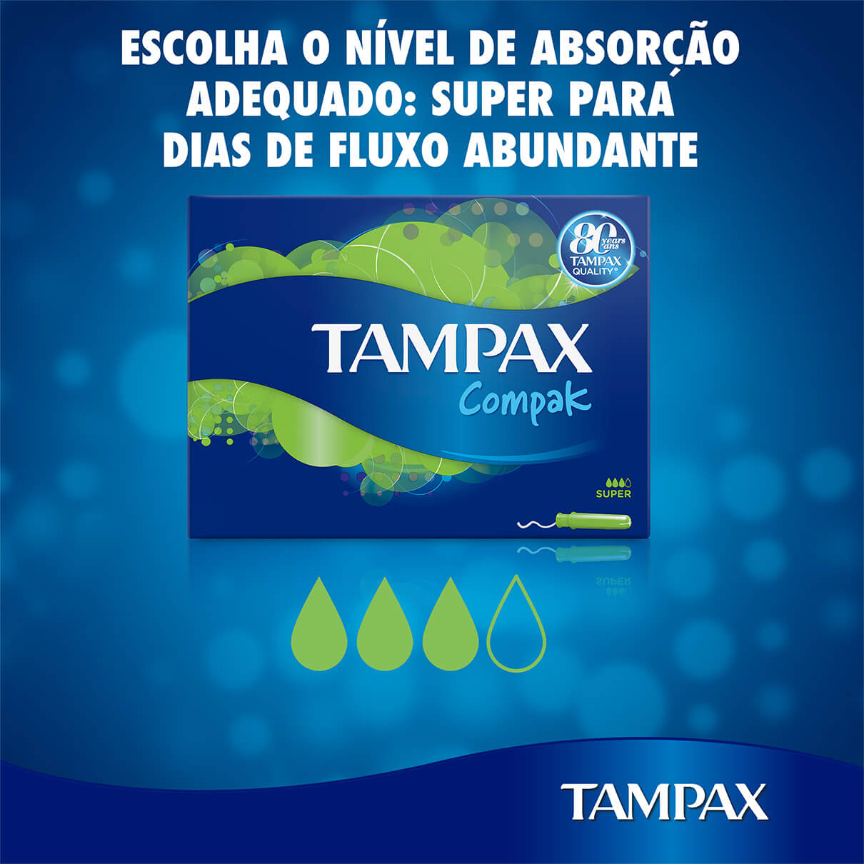 TAMPAX Compak Super tampoes menstruacao