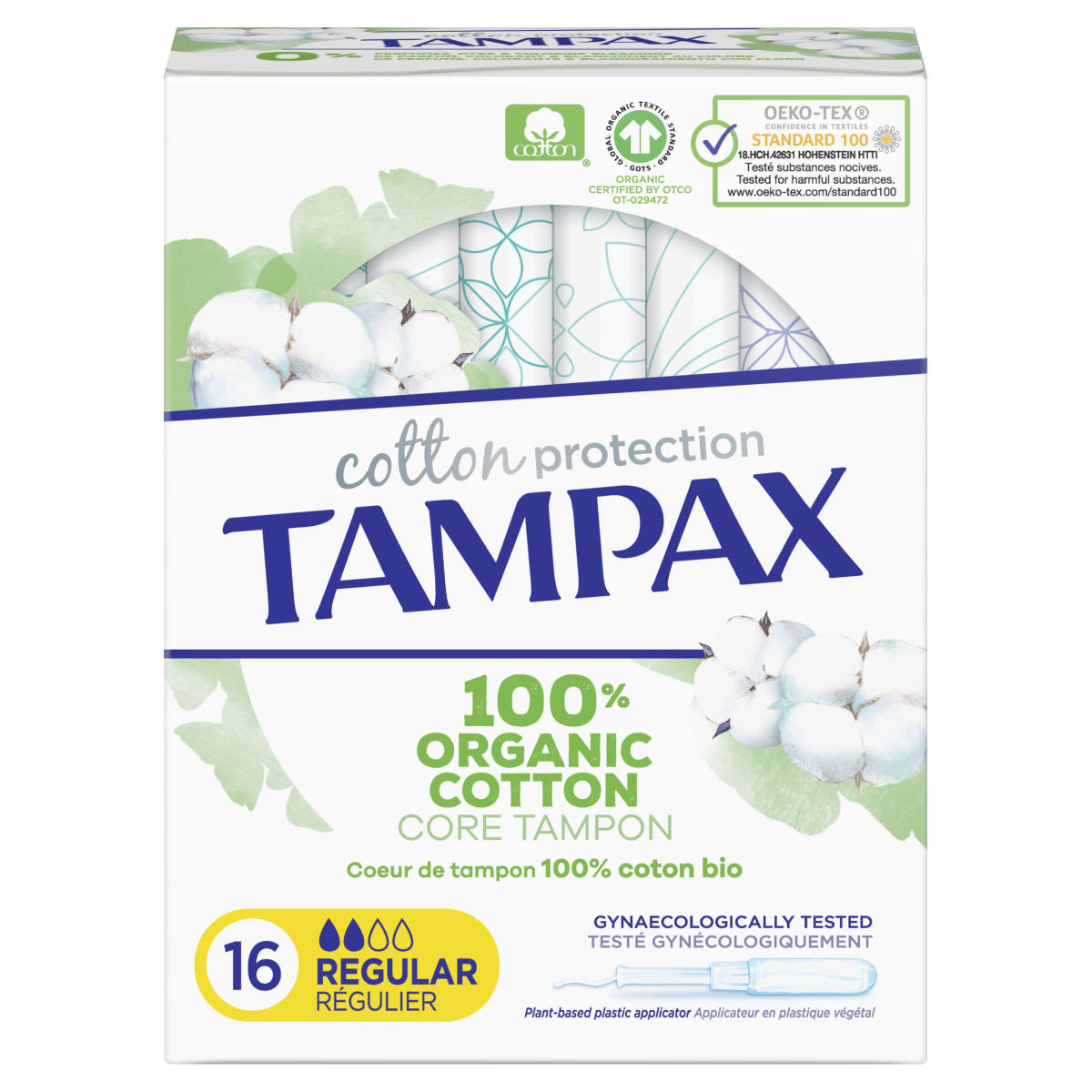 Tampax Cotton Protection Regular Tampones Con Aplicador 16 X