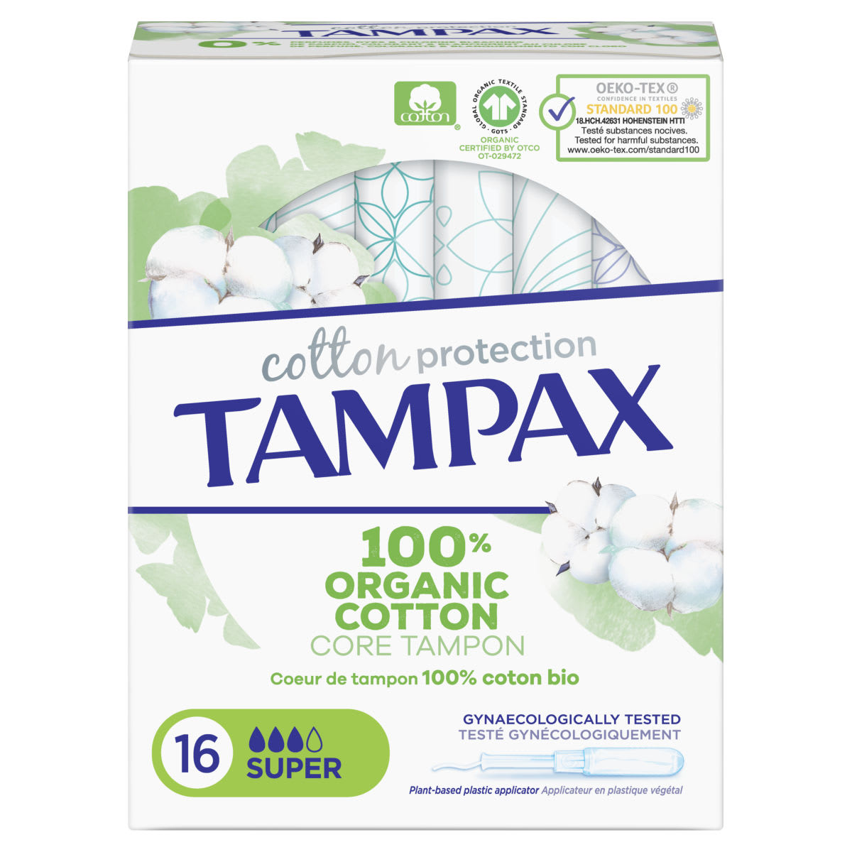 Tampax Cotton Protection Super Tampones Con Aplicador 16 X