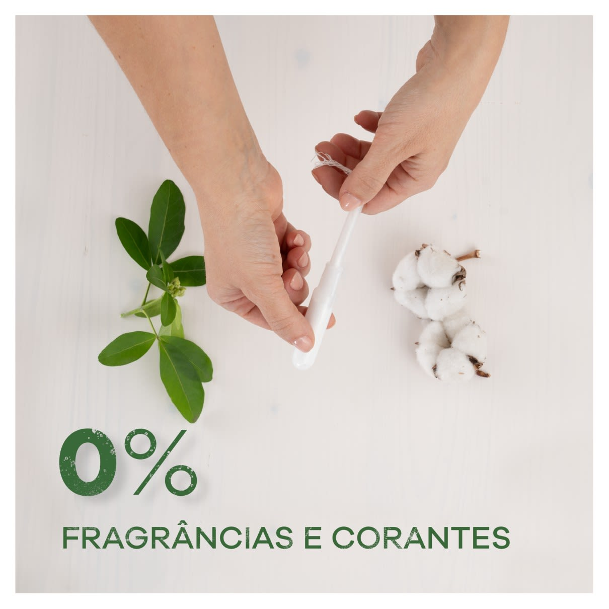 Tampax Lily Cotton Protection 0% Fragrancias e Corantes