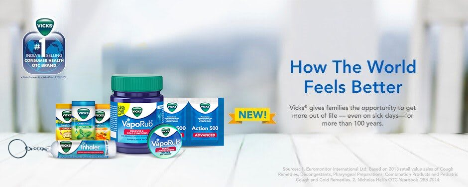 Vicks Product Line-up Image