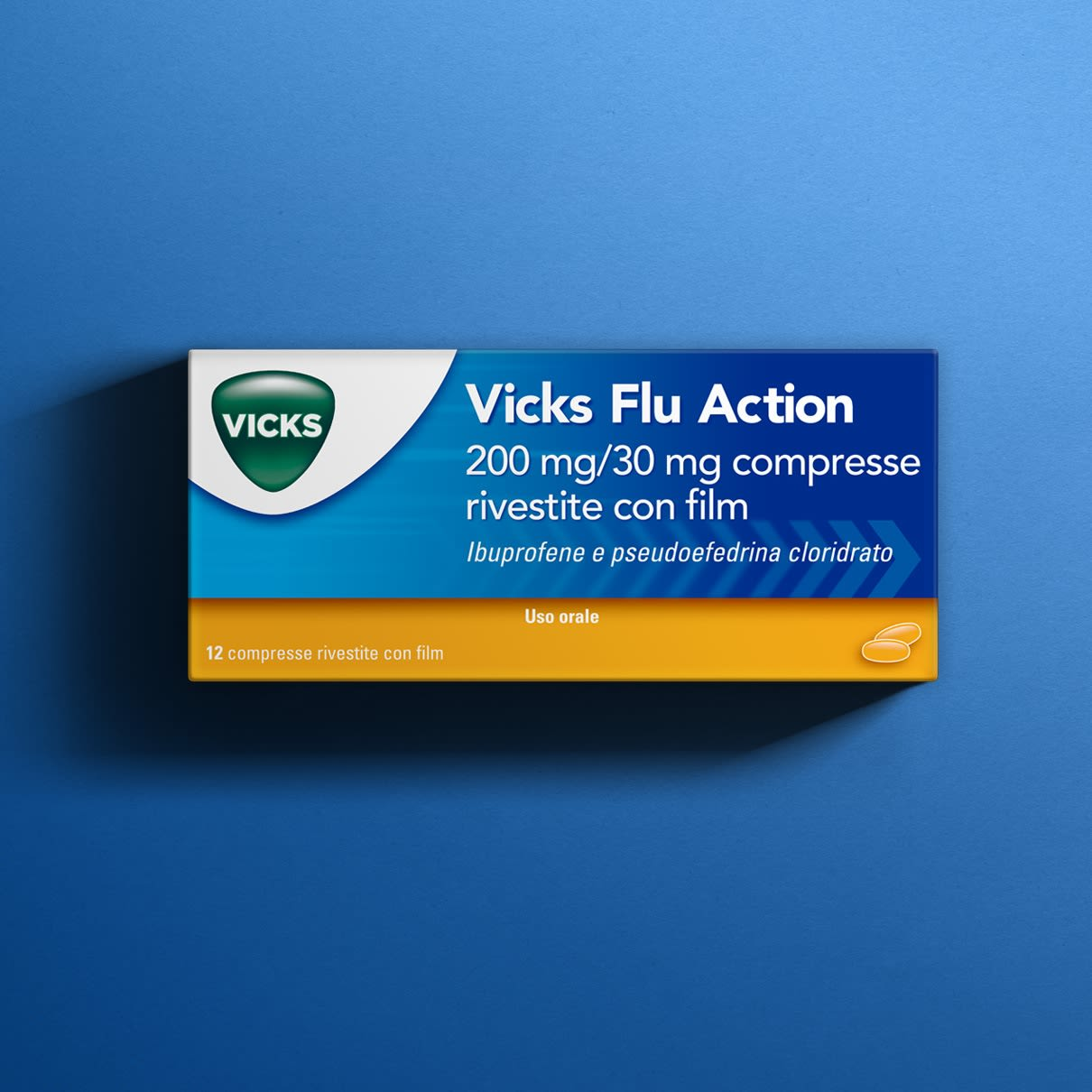 Vicks Flu Action Compresse Per Sintomi Del Raffreddore E Dell Influenza