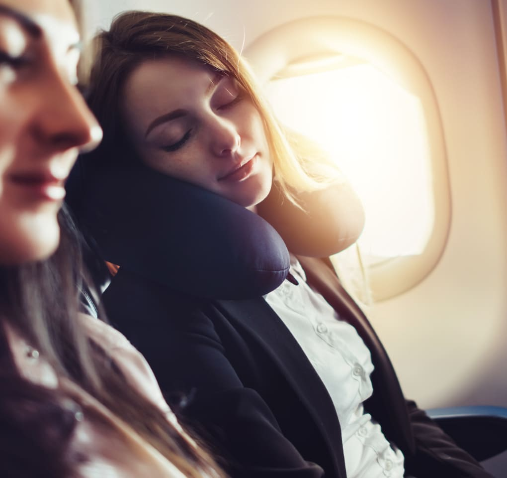 The Secrets to Sleeping on Airplanes Hero Image