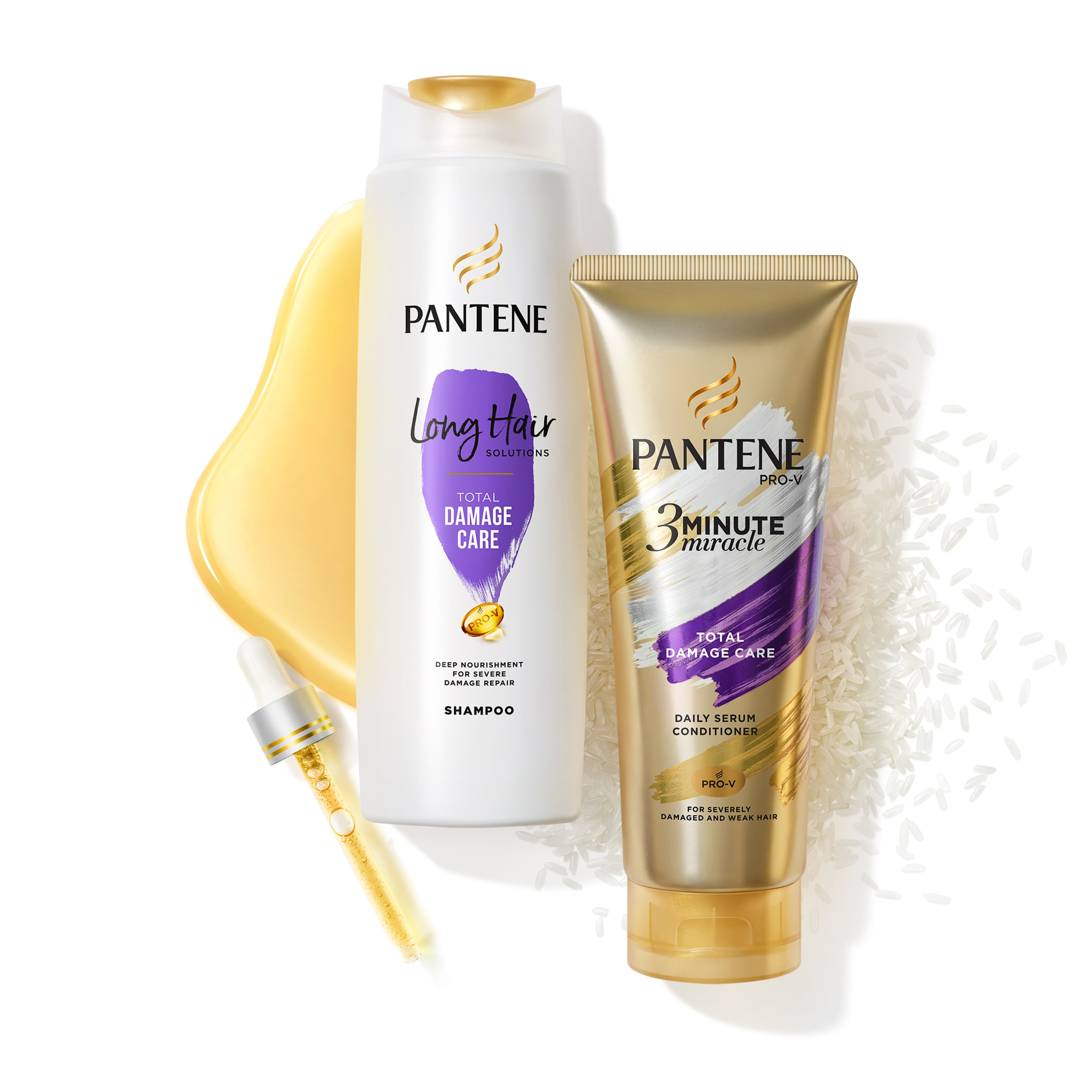 Pantene long hair shampoo and conditioner