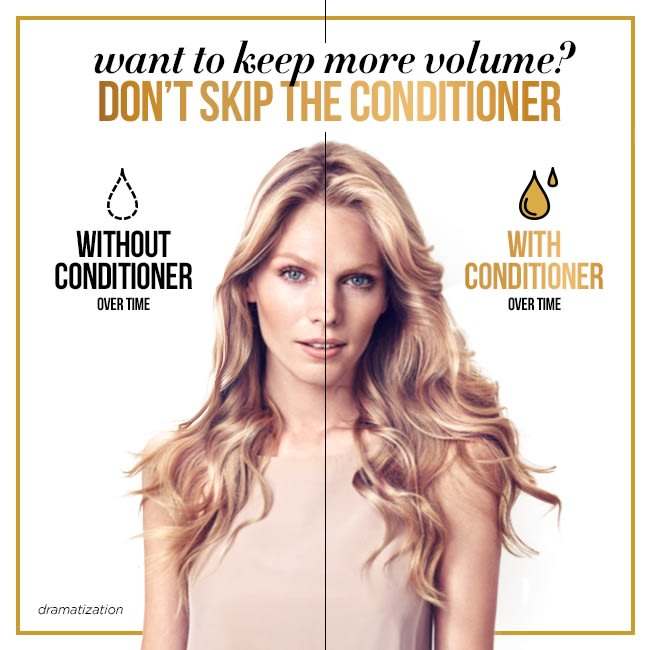 Achieve thick hair with conditioner
