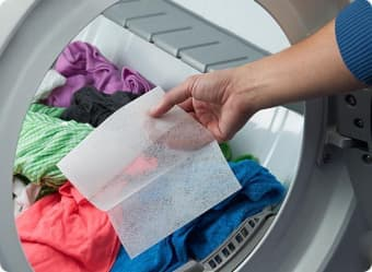 Use a Downy Dryer Sheet to fight static and add freshness.