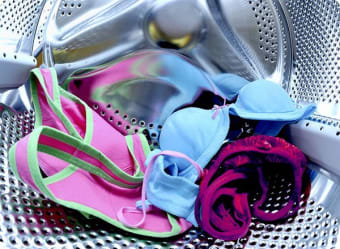 Take care when drying delicate bras in the dryer.