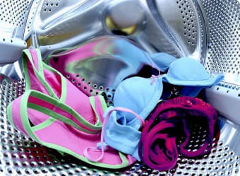 Take care when drying delicate items in the dryer.