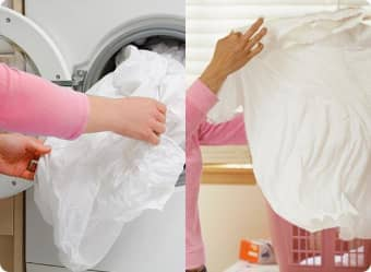 Remove wet clothes from the washer as soon as possible.