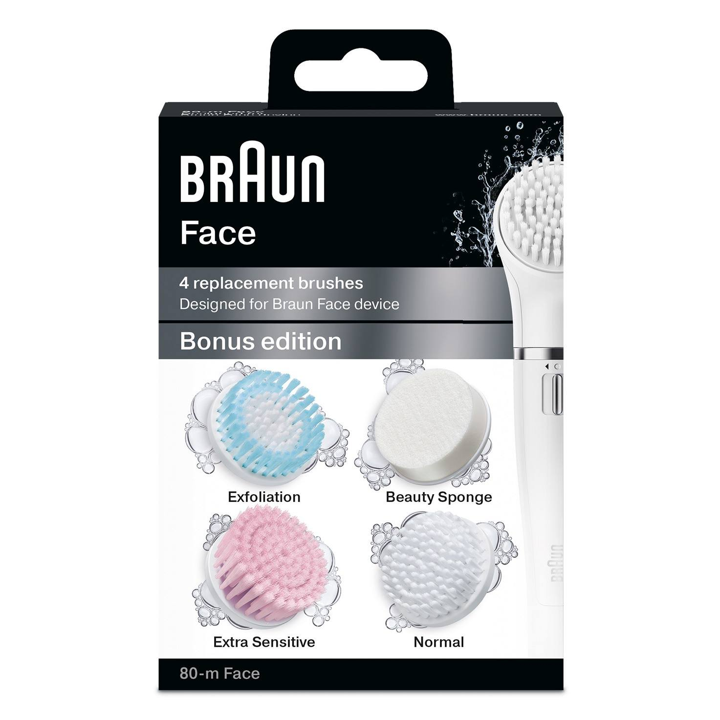 Braun facial cleansing brush refill duo pack 80-m packaging