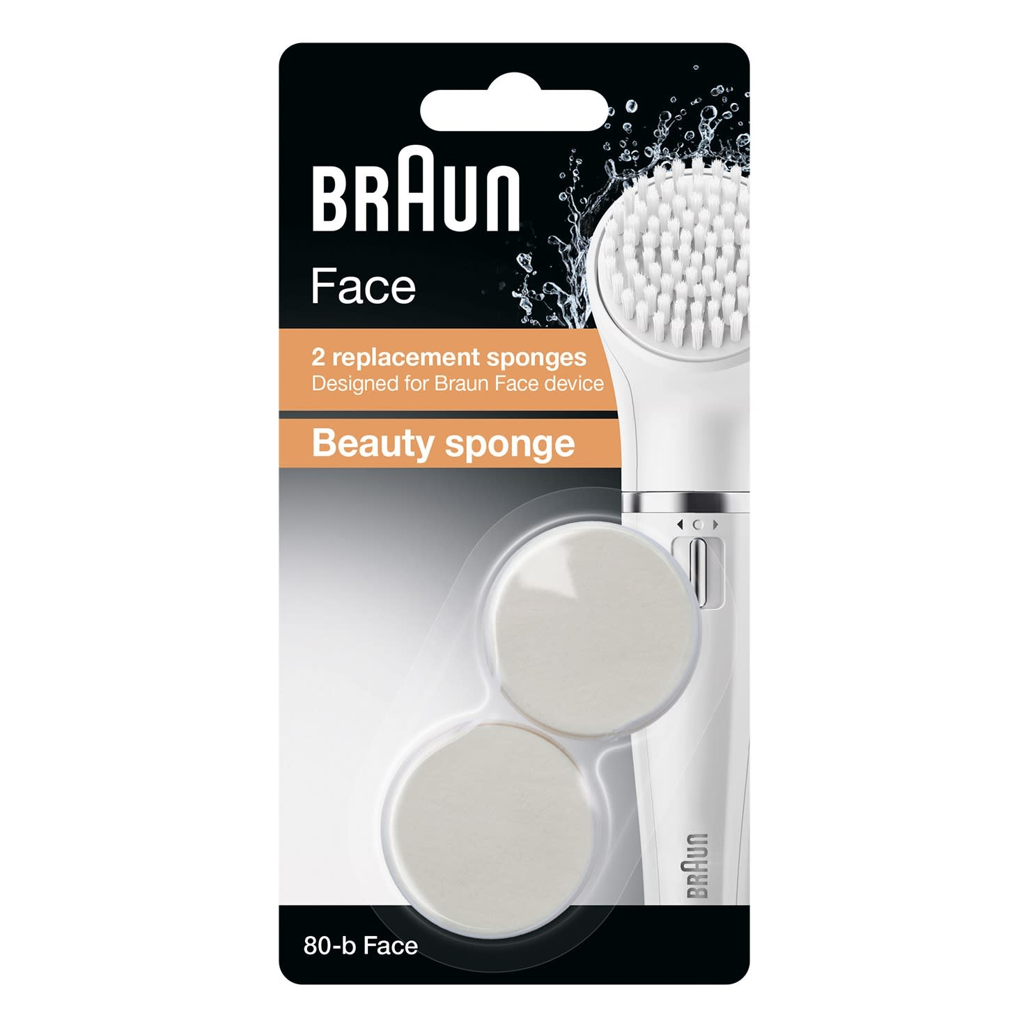 Braun facial cleansing brush refill duo pack 80-b packaging