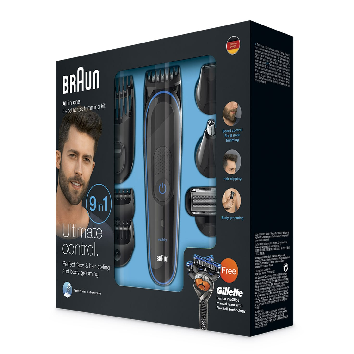 Braun multi grooming kit MGK3085 packaging