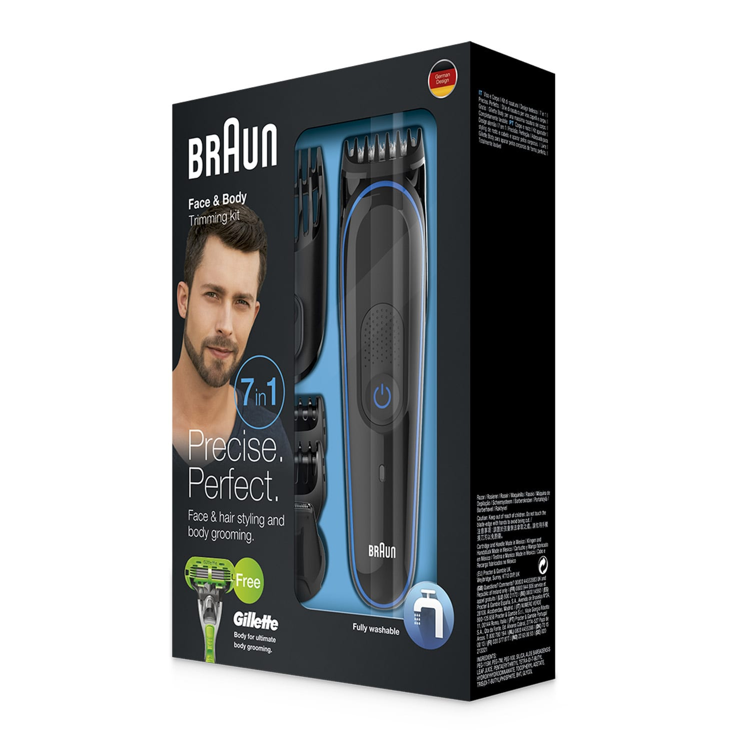 Braun multi grooming kit MGK3040 packaging