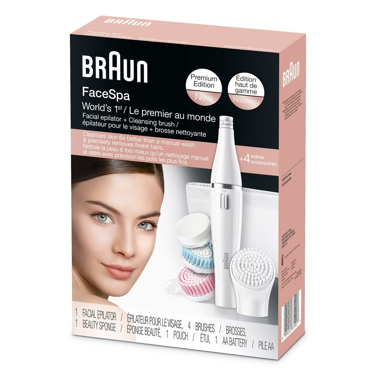 Braun Face 851 Epilator Facial Cleansing Brush