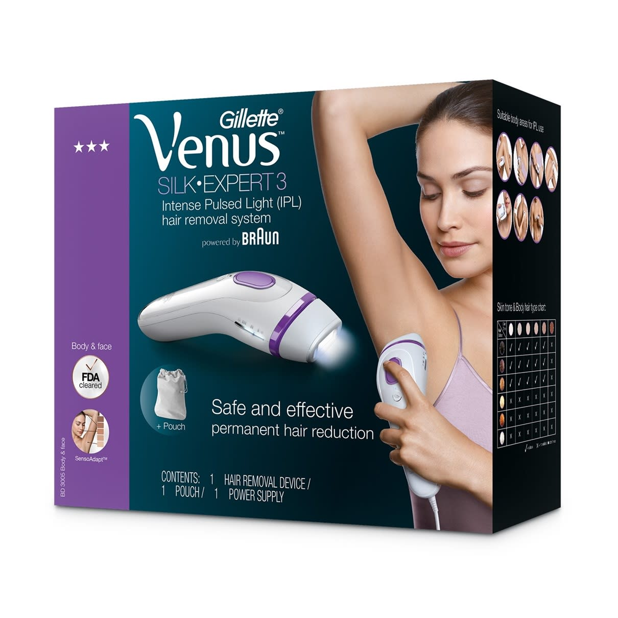 Venus Silk-expert 3 BD3005 IPL with pouch.