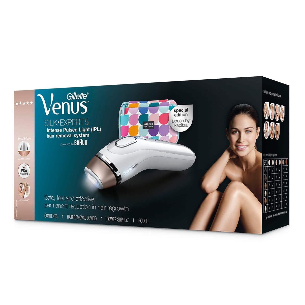 Venus Silk-expert 5 BD5006 IPL with special edition pouch by Kapitza.