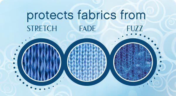 protects fabrics from STRETCH, FADE, FUZZ