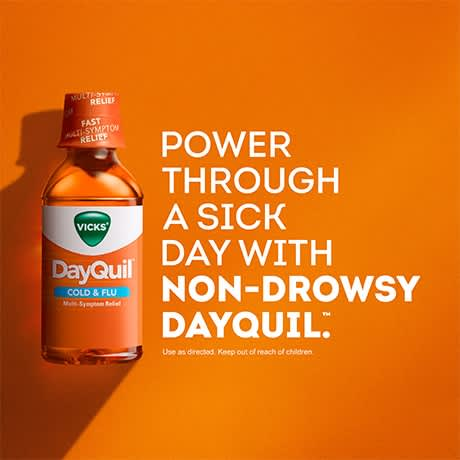 Power through a sick day with non-drowsy DayQuil